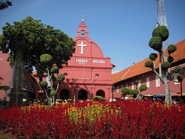 Melaka, Malacca christ church from Flickr via Wylio